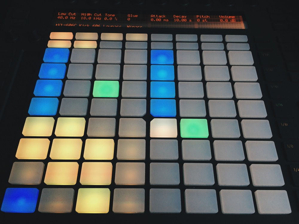 Secuenciando un Drum Rack con Ableton Push