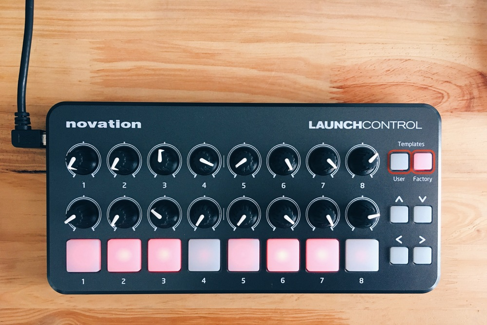 El controlador Novation Launch Control