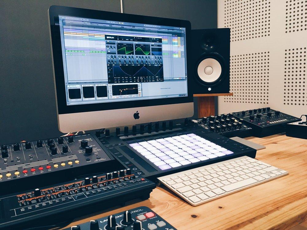 El control room.