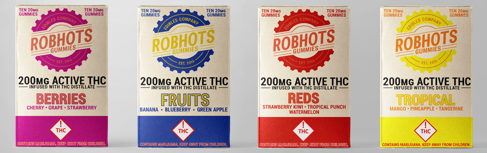 A look at the packaging for 200mg multipack gummies.