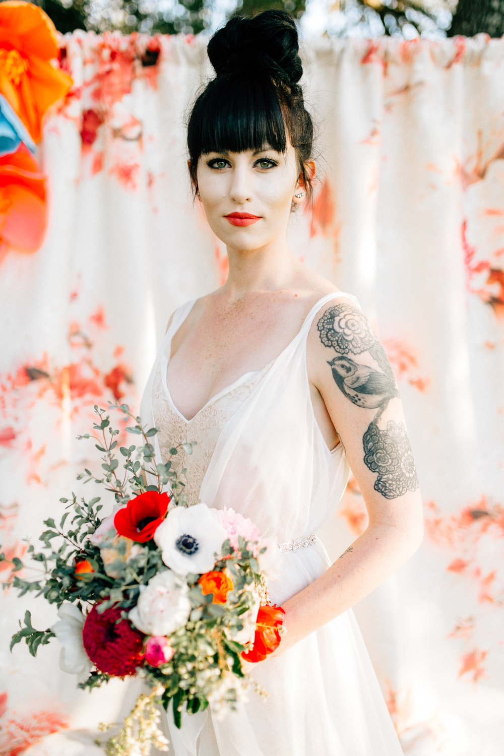 austin wedding floral backdrop rental