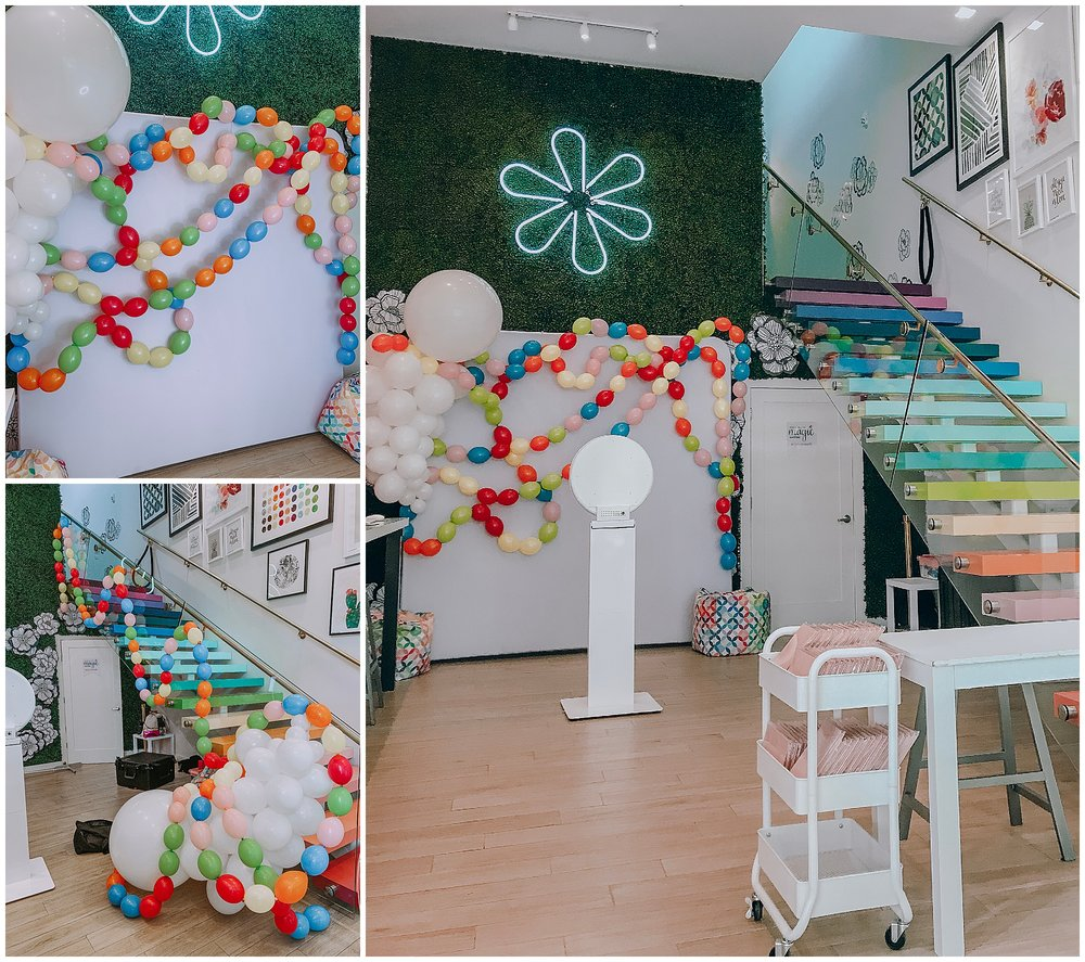 We created an install for the She Inspires event, hosted by  Erin Condren .