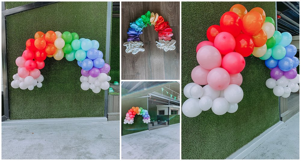 We created a rainbow balloon installation for @TheVenueATX's St. Patrick's Day Party.