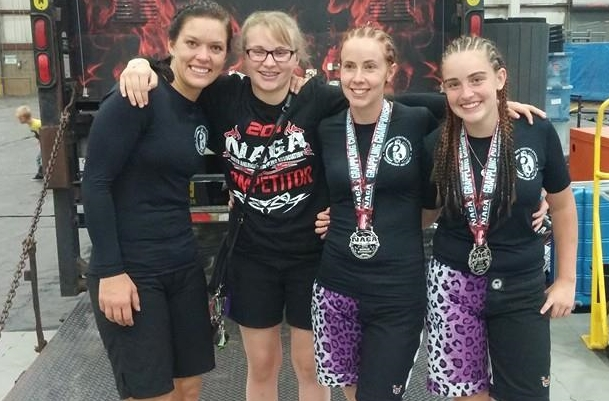 (Right to Left) Joelle S., Madeline K., Head Instructor Heather Braegger, and Maggie J.