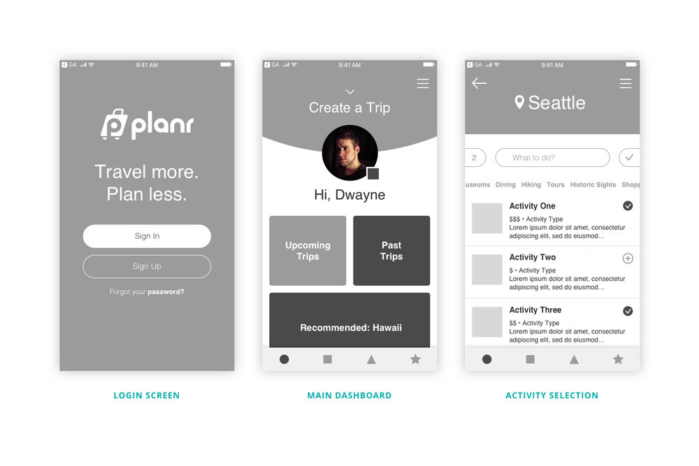Prototyping - With my wireframes laid out, I began creating a low-fidelity prototype. Working in grayscale help me focus on the more urgent details, functions and interactions.