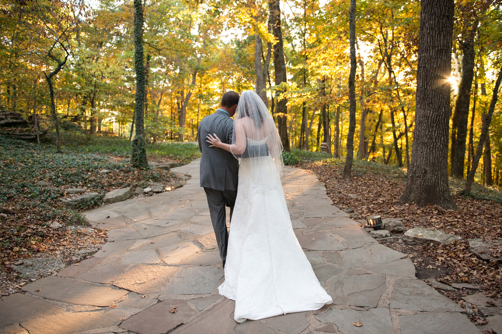 Bride and Groom, Autumn sunset