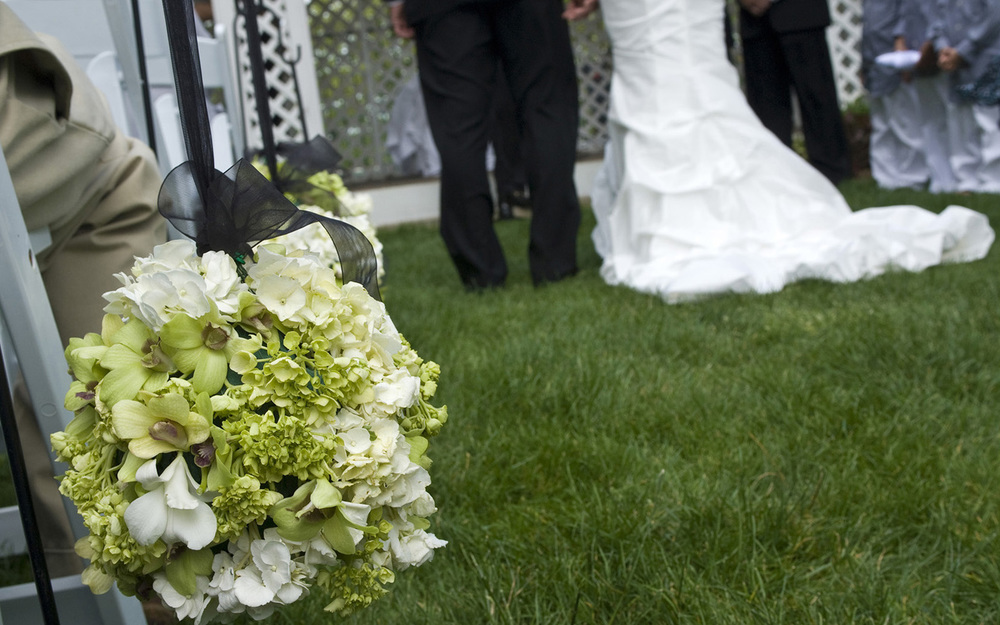 Bride and Groom outdoor ceremony