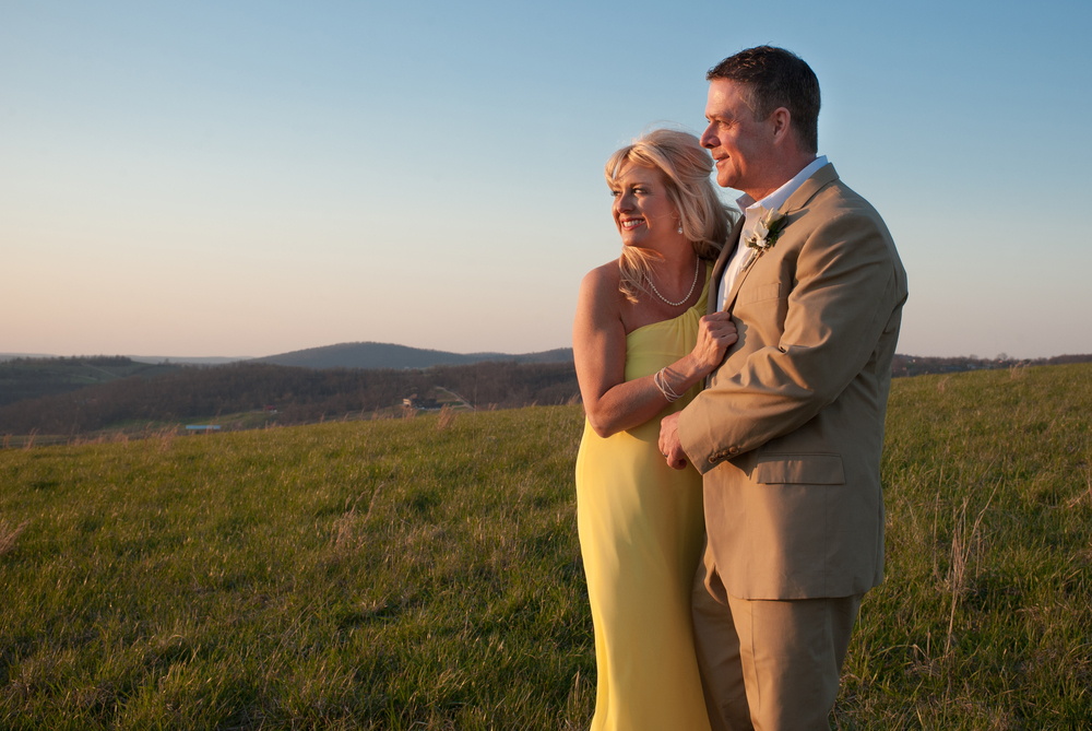 Bride and Groom, mountain top