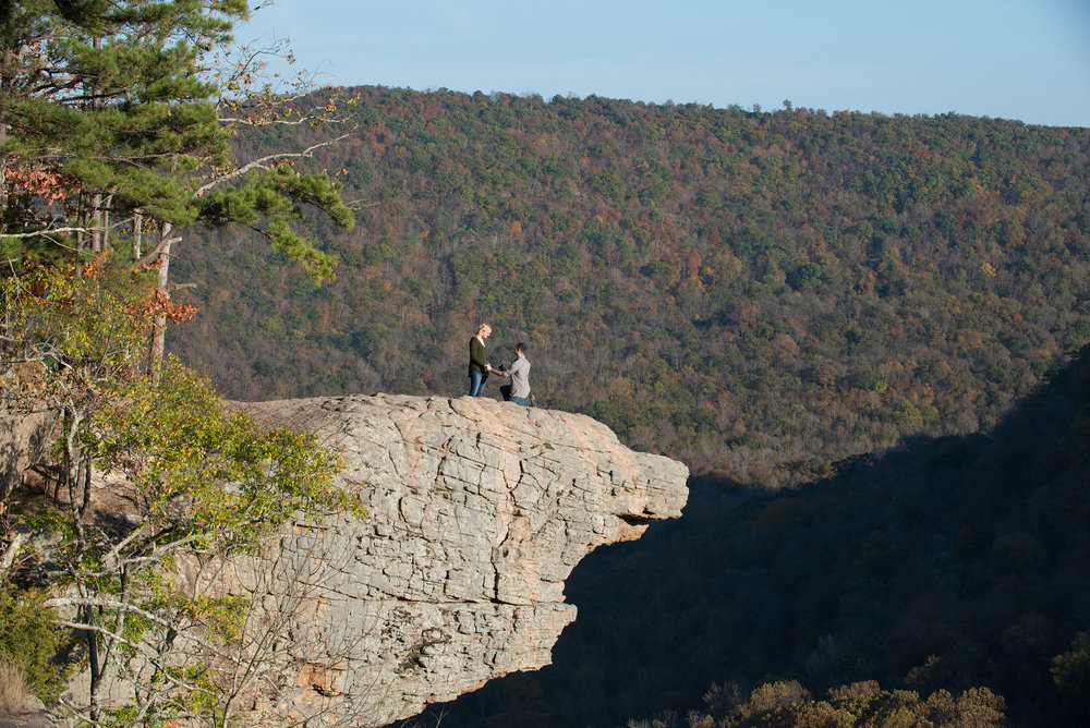 Marriage proposal at Whitaker Point