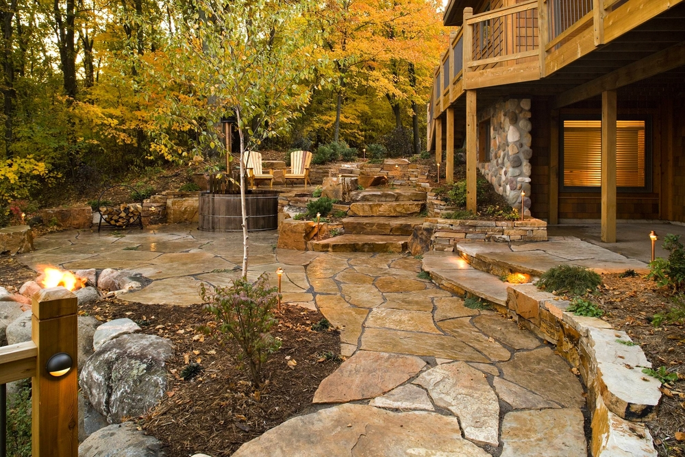 beautiful flagstone patio