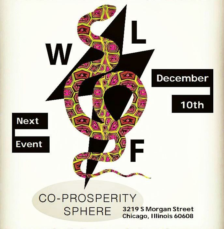 Wild Life Flea - Holiday Market - December 10, 2017      11am - 7pmCo-Prosperity Sphere3219 S Morgan St, Chicago