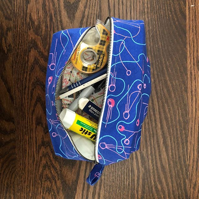 It's back to school season! Our Dopp Kits + pouches are great for all your pens, pencils, tape, protractors, compasses, erasers, stickers, glue sticks...etc. #backtoschool