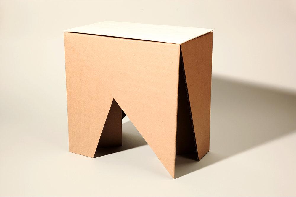 Flat-Pack Cardboard Stool (2016)