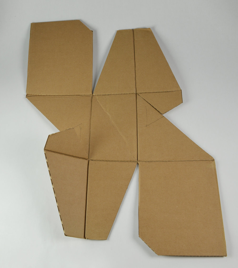 Cardboard Stool Full-Scale Prototype (2016)