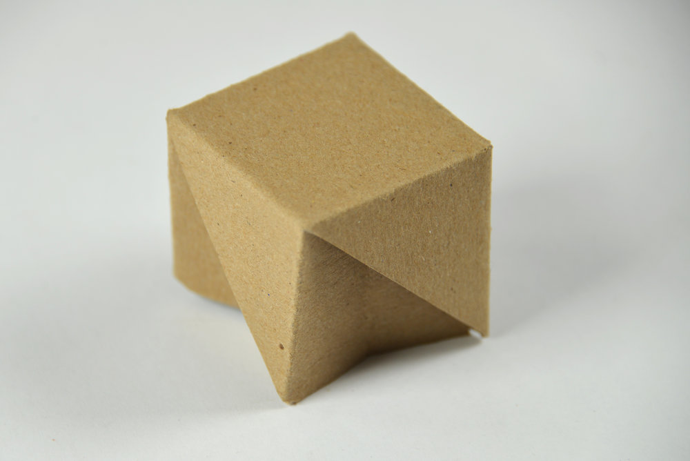 Cardboard Stool Small-Scale Prototype (2016)