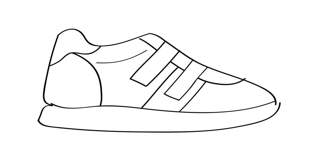 Asymmetrical Velcro Nude Sneakers (2017)