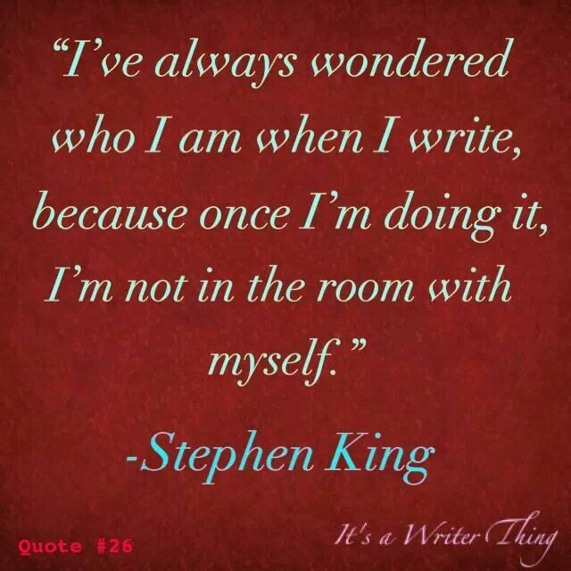 thewritewire: King Hitting the nature of fiction writers right on the head. A.M.