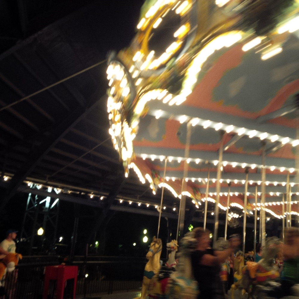 The carousel at Kennywood is always best after dark.