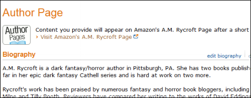 My Amazon Author Page