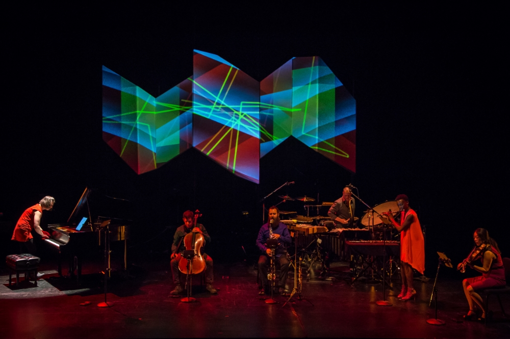 Eighth Blackbird performs Hand Eye.  (photo courtesy Matthew Ozawa)