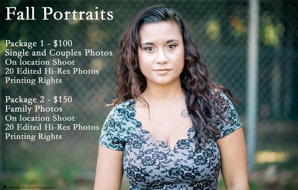 Fall Portraits promo