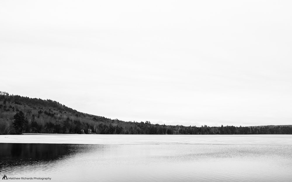 black and white Parker Pond
