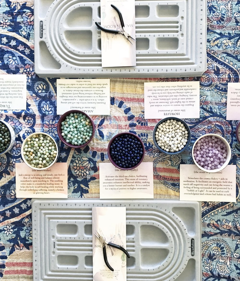 the mala workshop - Design, handcraft + activate your custom mala beads with intention!