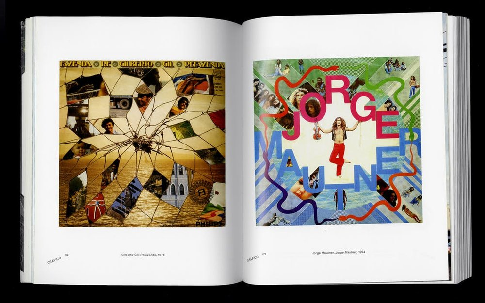 Spread from Rogério Duarte, Marginália 1. Left: Gilberto Gil, Refazenda, 1975 Right: Jorge Mautner, Jorge Mautner, 1974