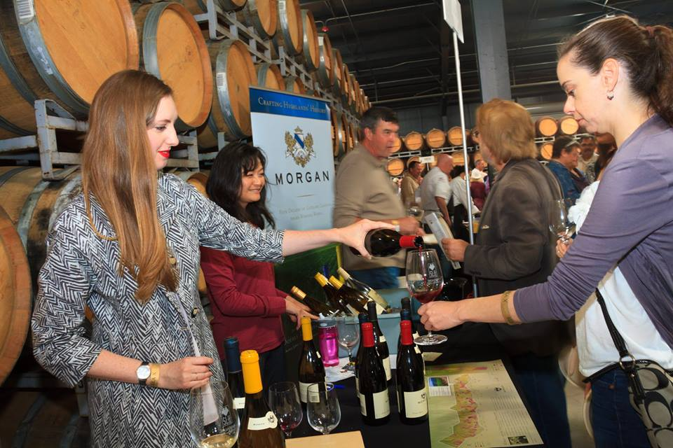 Eve used to work at a tasting room so when Morgan needed a helping hand, she gladly stepped in!  Photo by: Morgan Winery