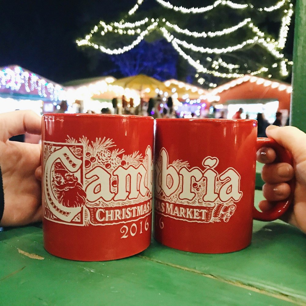 Mulled wine to keep us warm at the Cambria Christmas Market!