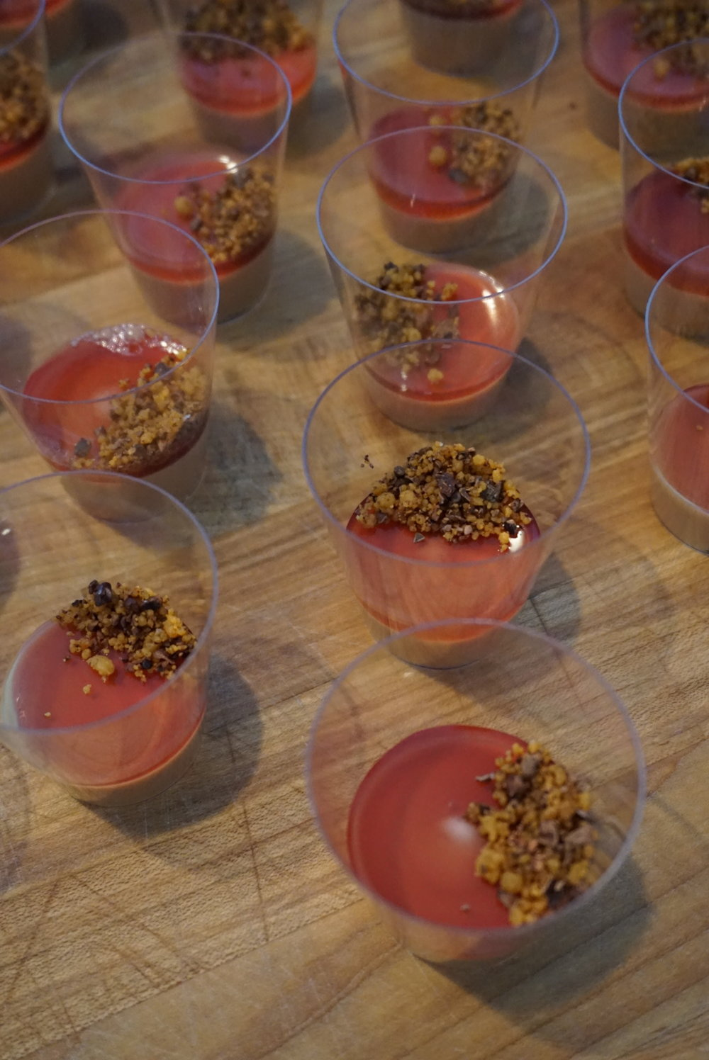 Hudson Valley's brown butter crumble & strawberry foie gras