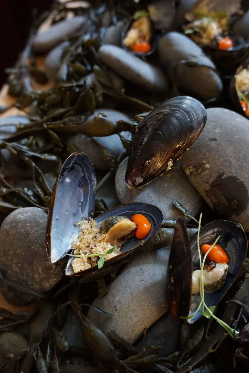 Marinated salt spring mussels