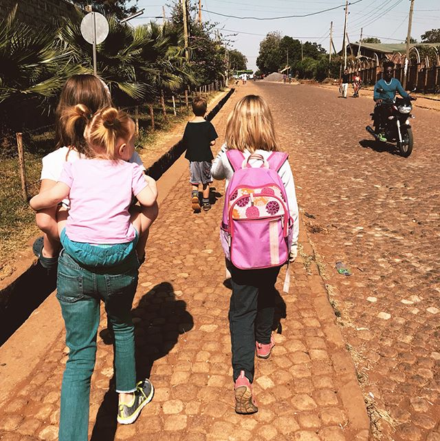 Today we walked down the (cobblestone) street to the closest cafe for some macchiatos and coloring while I read out loud for our Bible time. On the walk home the kids (on their own accord) gave their pictures to the little children who sit on the corner by the hospital with their mothers to beg for money. Their smiles and those of their mothers were so heartwarming and full of thanks. I couldn't help but think that it may be the only picture they've ever owned. And I couldn't help but be so proud of the generosity and thoughtfulness and love from our kids. They've seen and learned so many things in our five months here that I'm convinced will shape them for a lifetime. ❤️