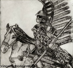 Polish Hussar- Etching (2014)