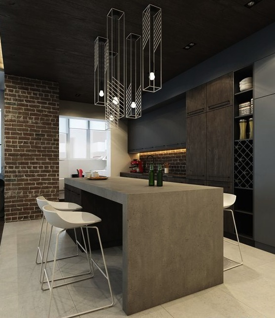 Combined kitchen and dining by IQOSA