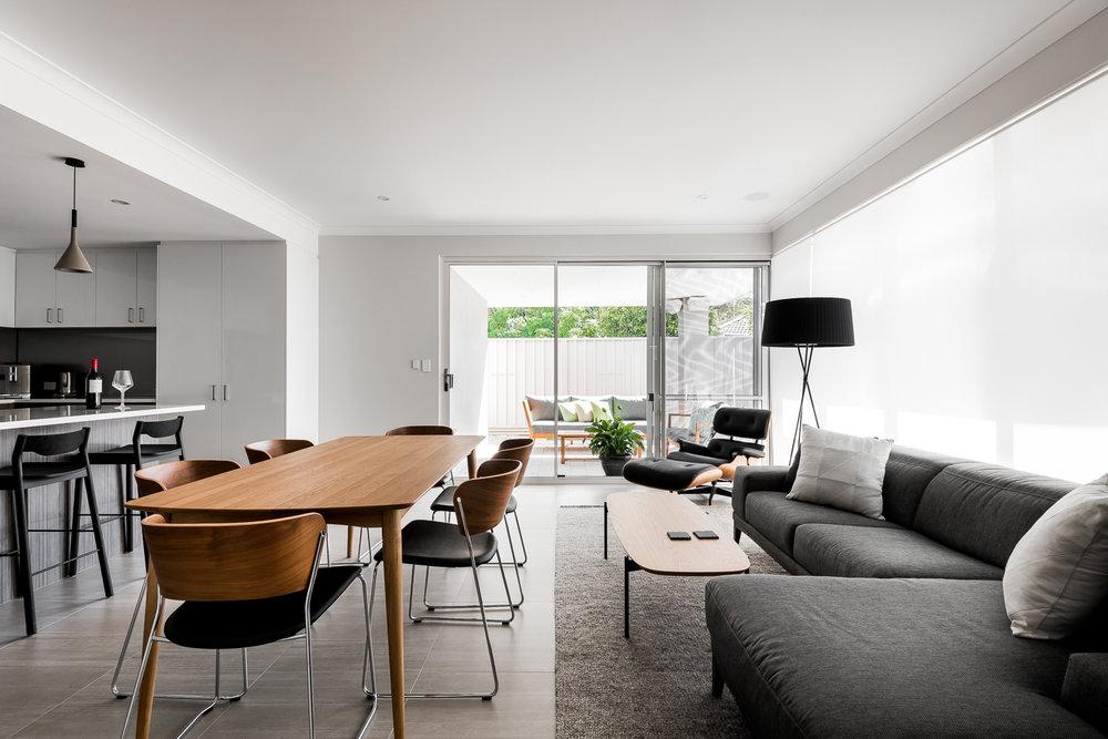 Open floor plan designed by DALECKI DESIGN