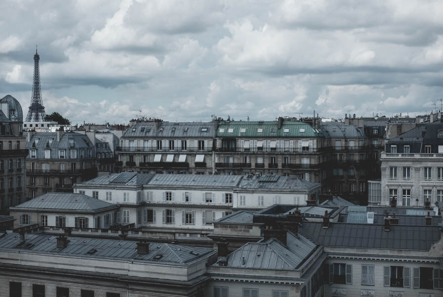 Šiek tiek Paryžiaus stogų ir jis -Eifelio bokštas!    Some roofs of Paris and Eiffel tower!