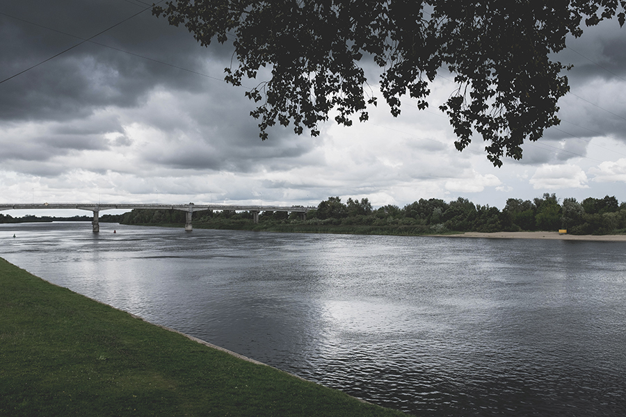 Upė Atmata. Rusnė.  Atmata River. Rusne.