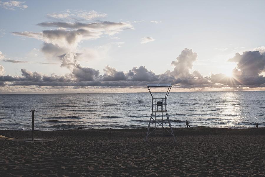 Saulėlydis Giruliuose.  Sunset at Giruliai beach.