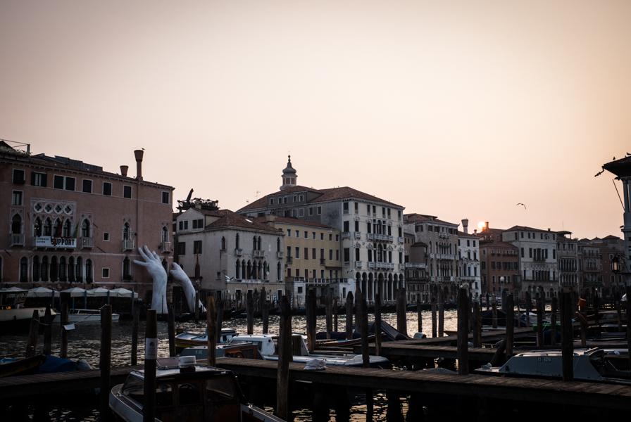 Saulėtekis Venecijoje.  Sunrise in Venice.