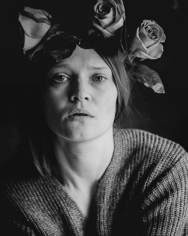 Accept every feeling you feel  #selfieofday #selfportrait #selfportraitphotography #rose #rosewreath #flowerereath #instaflowers #grey #notsmiling #35 #portrait #bnw #blackandwhitephotography #bnw_portrait #selfie #sad  #feelings #theauthenticfeeling #loveyourself