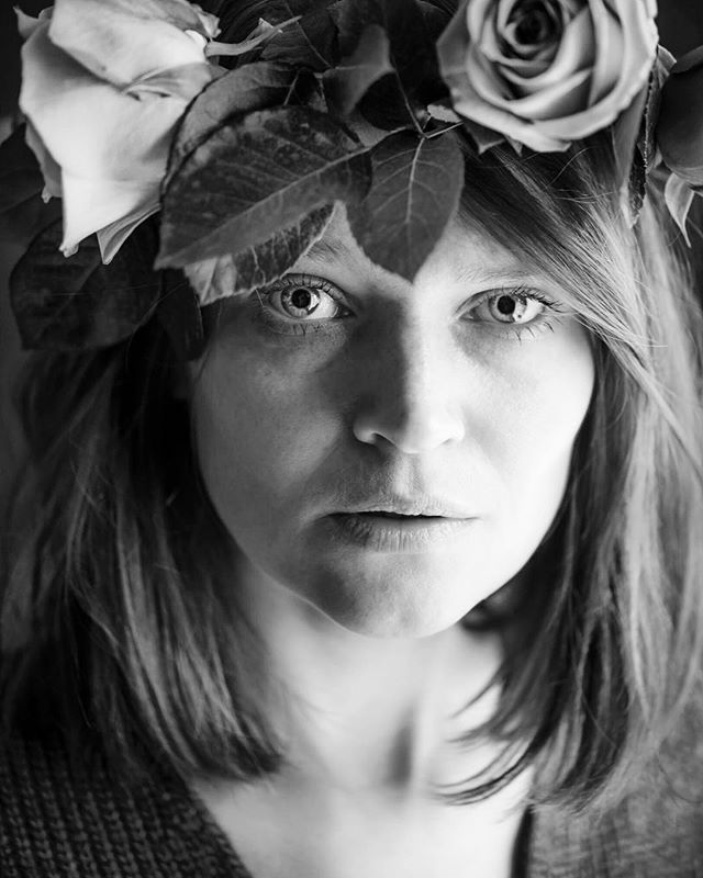 I often find parts of you in myself. But I can't recognize what exactly is it. Is it your lips when I'm smiling slightly? Or is it a wrinkle on my forehead when I'm angry? Maybe freckles? Yes we have common freckles  #selfie #selfportrait #portrait #bnw #beauty #pretty #wonder #photography #blackandwhite #roses #eyes #freckles #sight #you #me #flowercrown