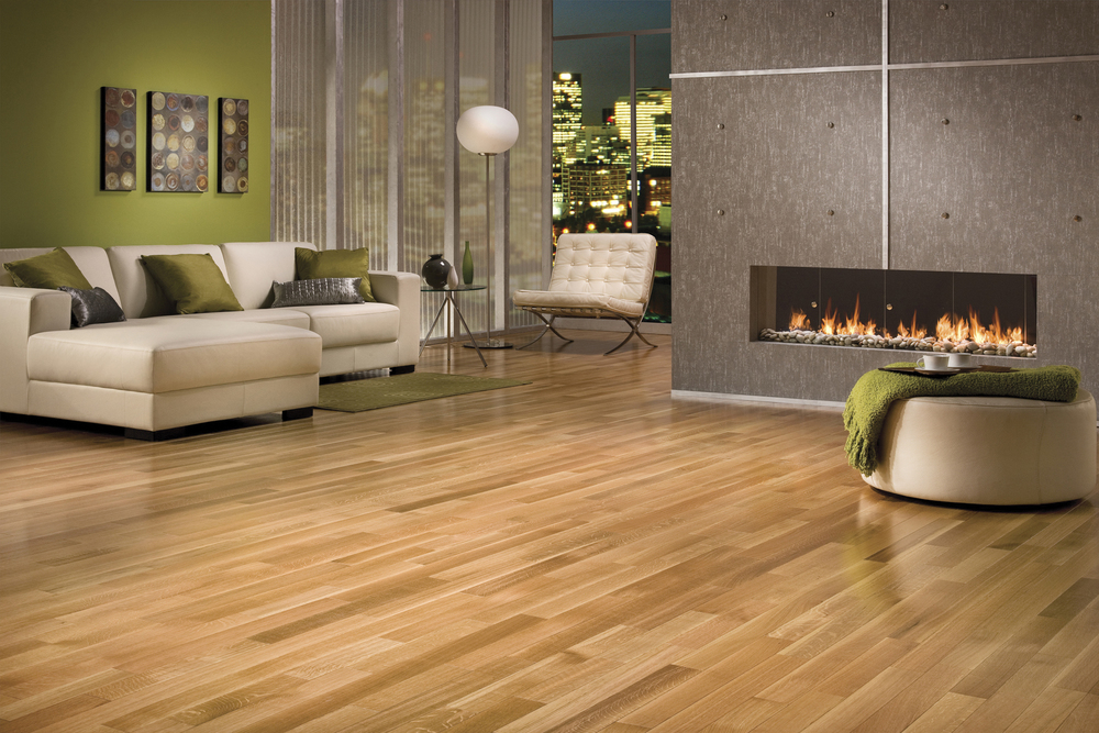 modern family room decor with engineered hardwood floors - Durable Laminate Wood Flooring