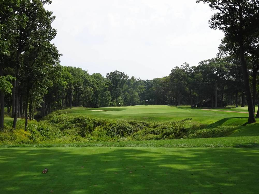 The 14th redan hole