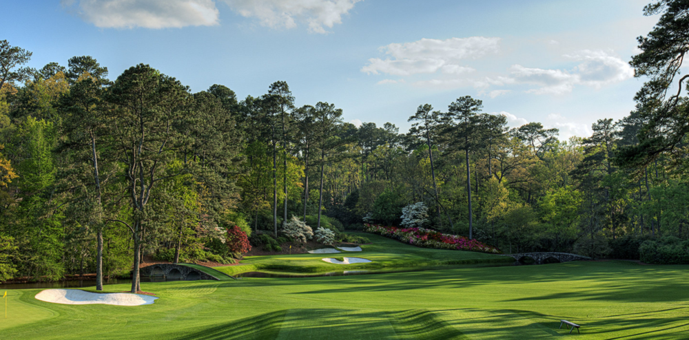 The par 3 12th, at Augusta National, always a pivotal hole in the Masters.