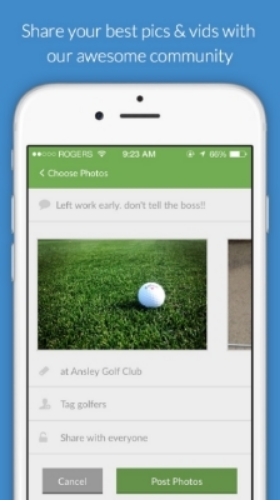 Easily post your golf moments through gottaGolf's iPhone app.