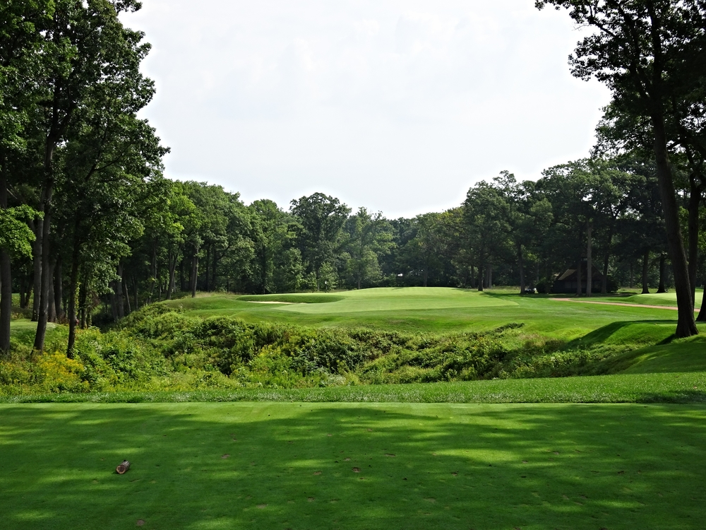 The 14th hole at Shoreacres, designed by Seth Raynor.