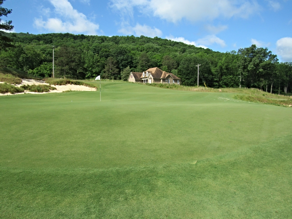 View from the left of the 9th green at Sweetens Cove.