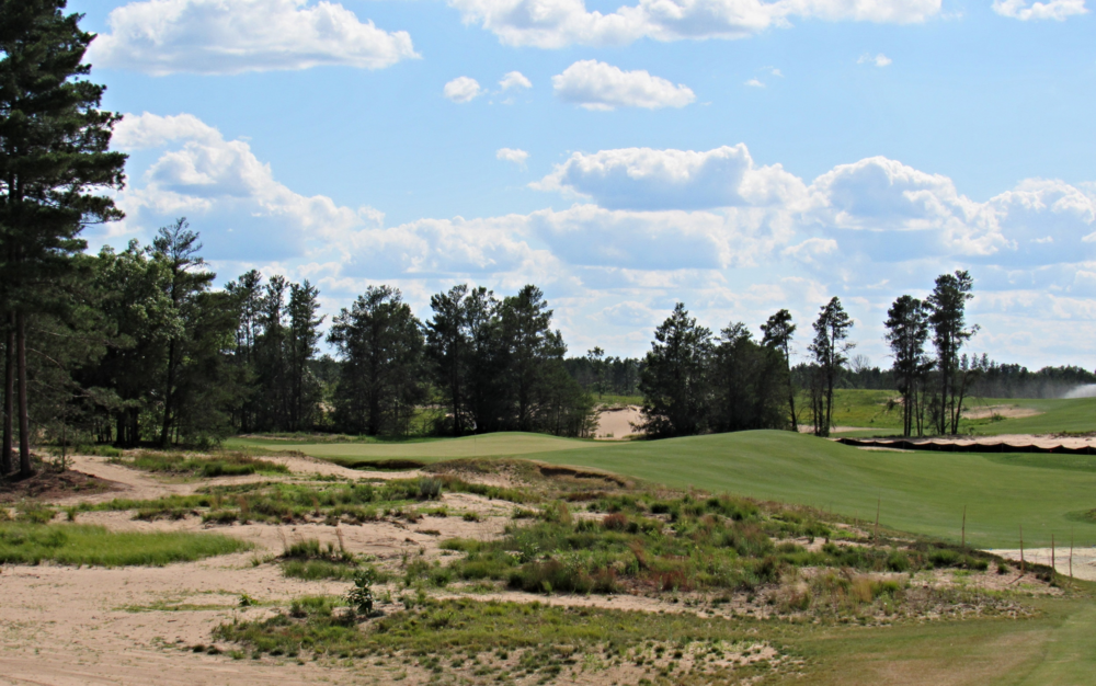 Coore and Crenshaw's redan at the new Sand Valley.
