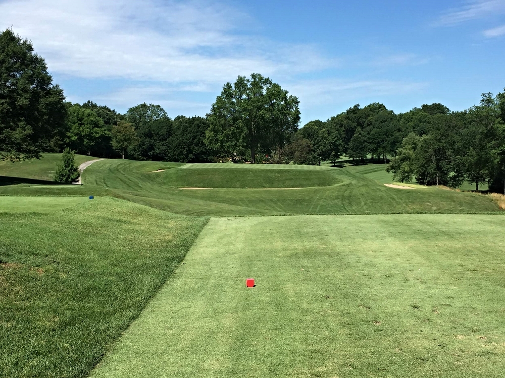 """Shortie"" the par 3 7th at St. Louis C.C. Photo Credit: Kyle Truax @TheTruArchitect"